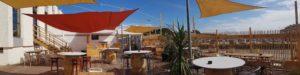La terrasse du casino avec vue sur l'océan